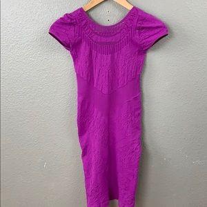 Bebe Purple Pink Textured Tube Bodycon Dress Small